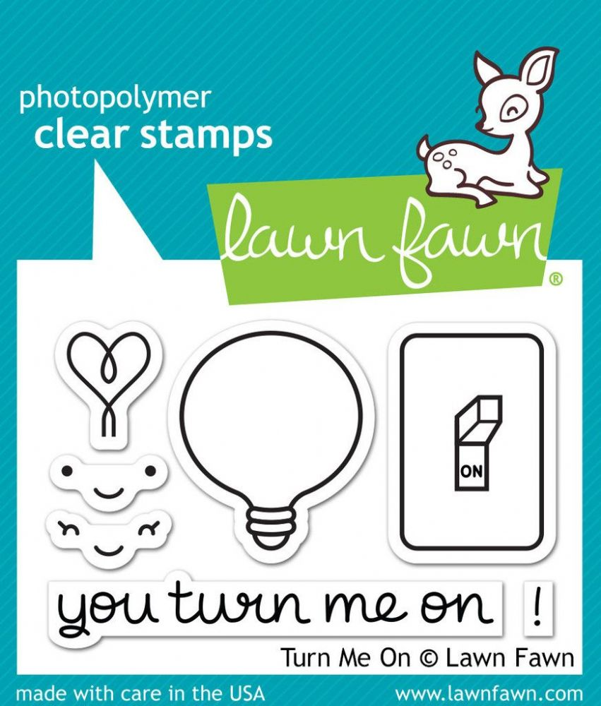 lf1020 s turn me on clear stamps by lawn fawn